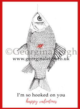 Fishing Valentines Card